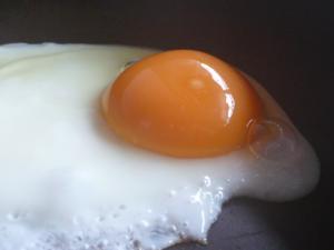 おいしっくす卵で目玉焼き